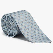 Buy John Lewis Woven in Italy Mini Foulard Silk Cotton Tie, Blue Online at johnlewis.com