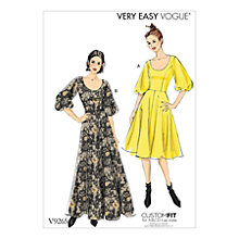 Buy Vogue Flare Dresses Sewing Pattern, 9265 Online at johnlewis.com