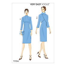 Buy Vogue Jacket and Dress Sewing Pattern, 9266 Online at johnlewis.com