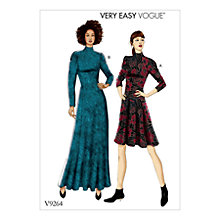 Buy Vogue Fit-And-Flare Dresses Sewing Pattern, 9264 Online at johnlewis.com