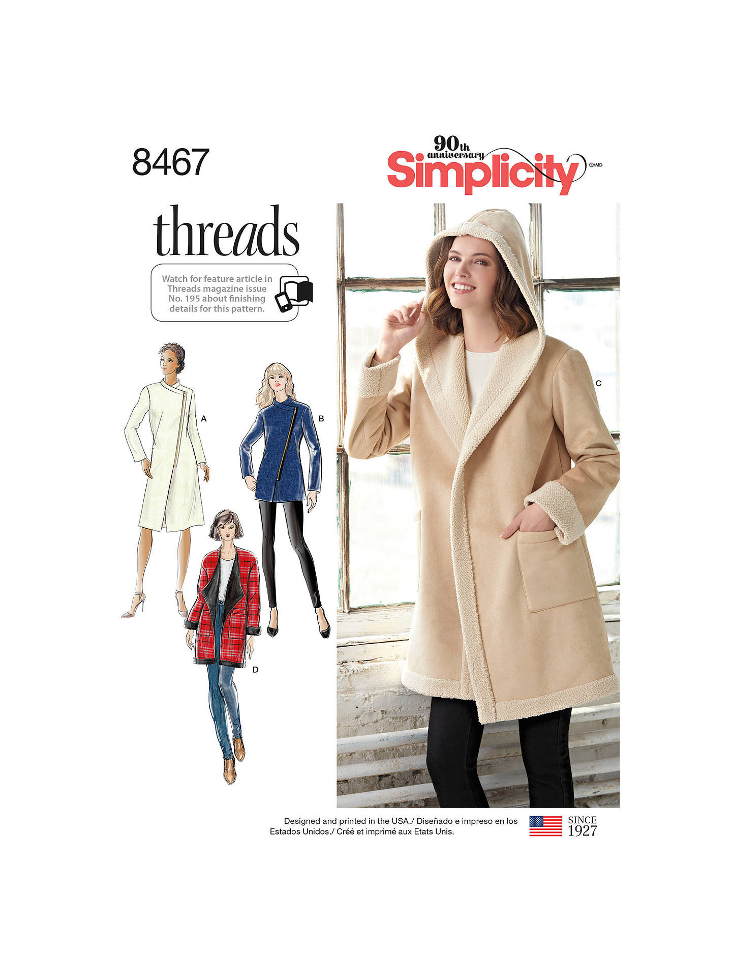 Simplicity Women\'s Coat or Jacket with Neckline Variations Sewing ...