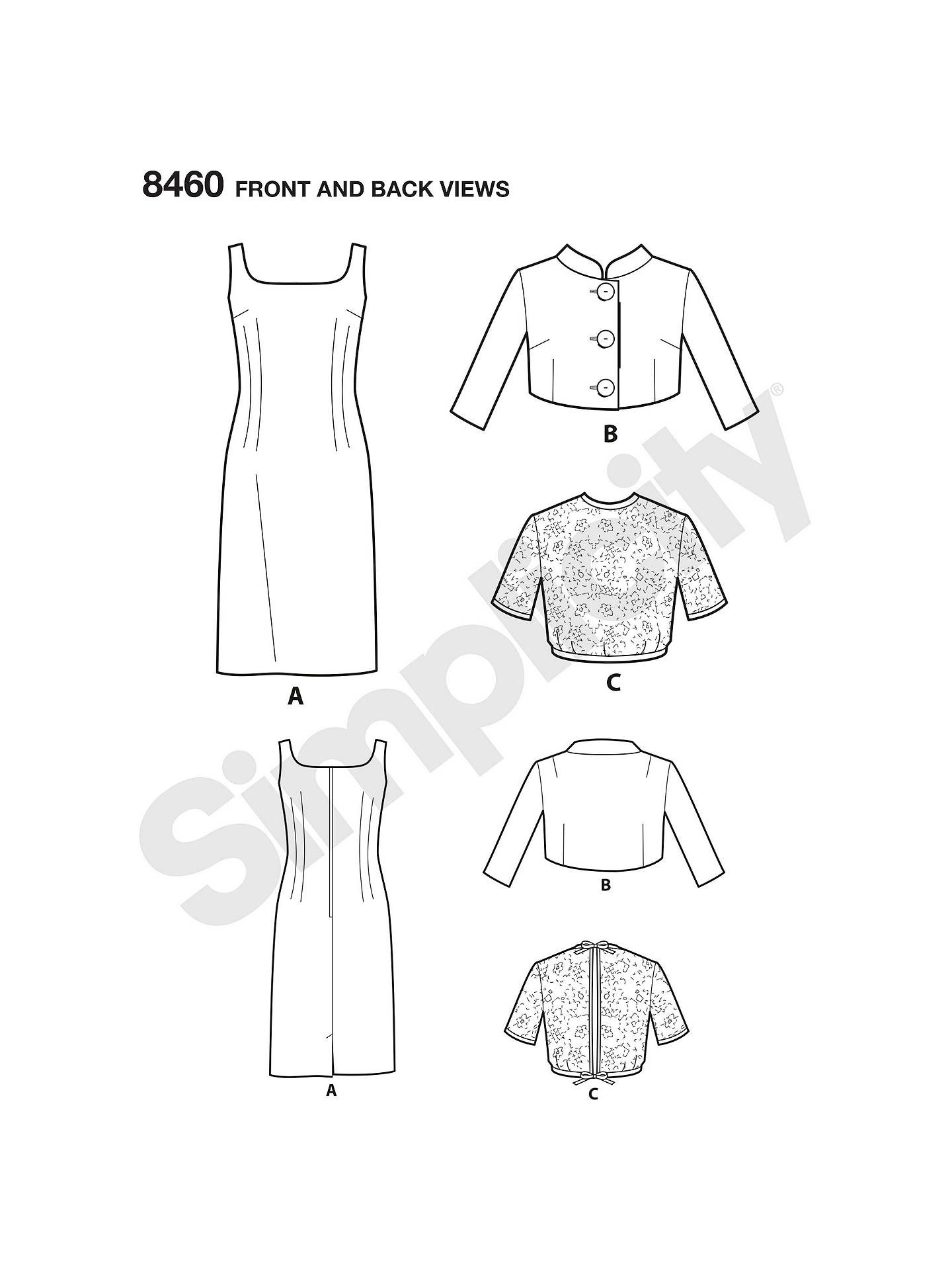 Simplicity Women\'s Vintage Dress And Jacket Sewing Pattern, 8460 at ...