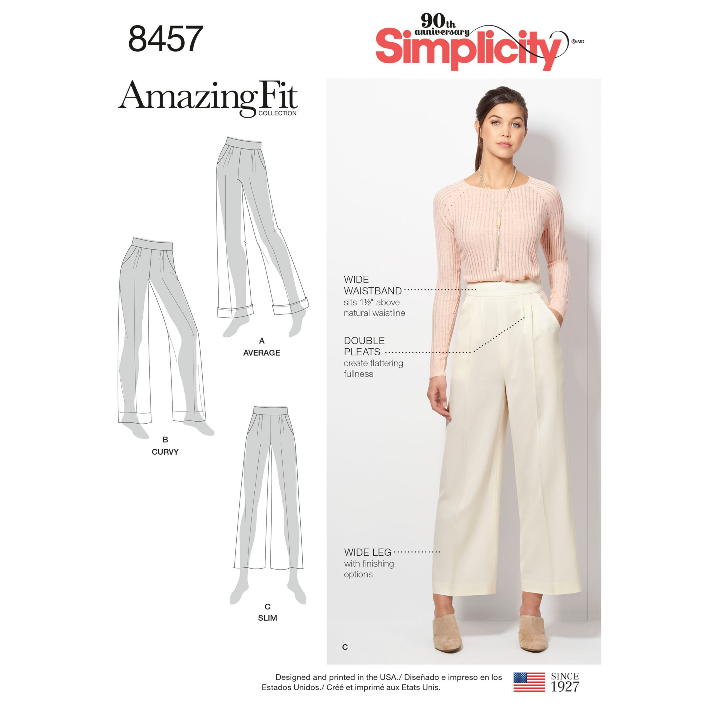 Simplicity Women S Trousers Sewing Pattern 8457 At John Lewis Partners