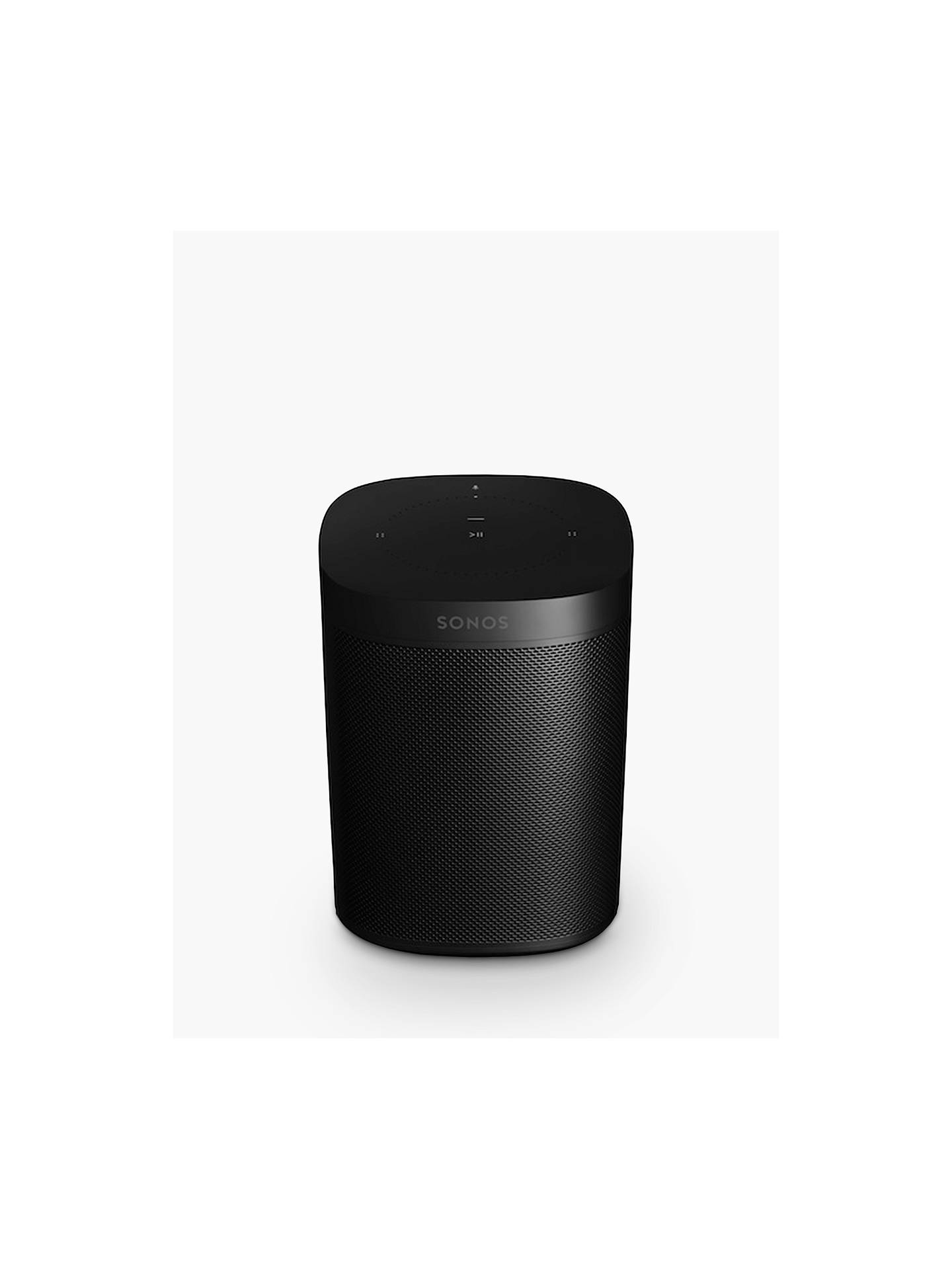 Buy Sonos One Voice Controlled Smart Speaker, Black Online at johnlewis.com