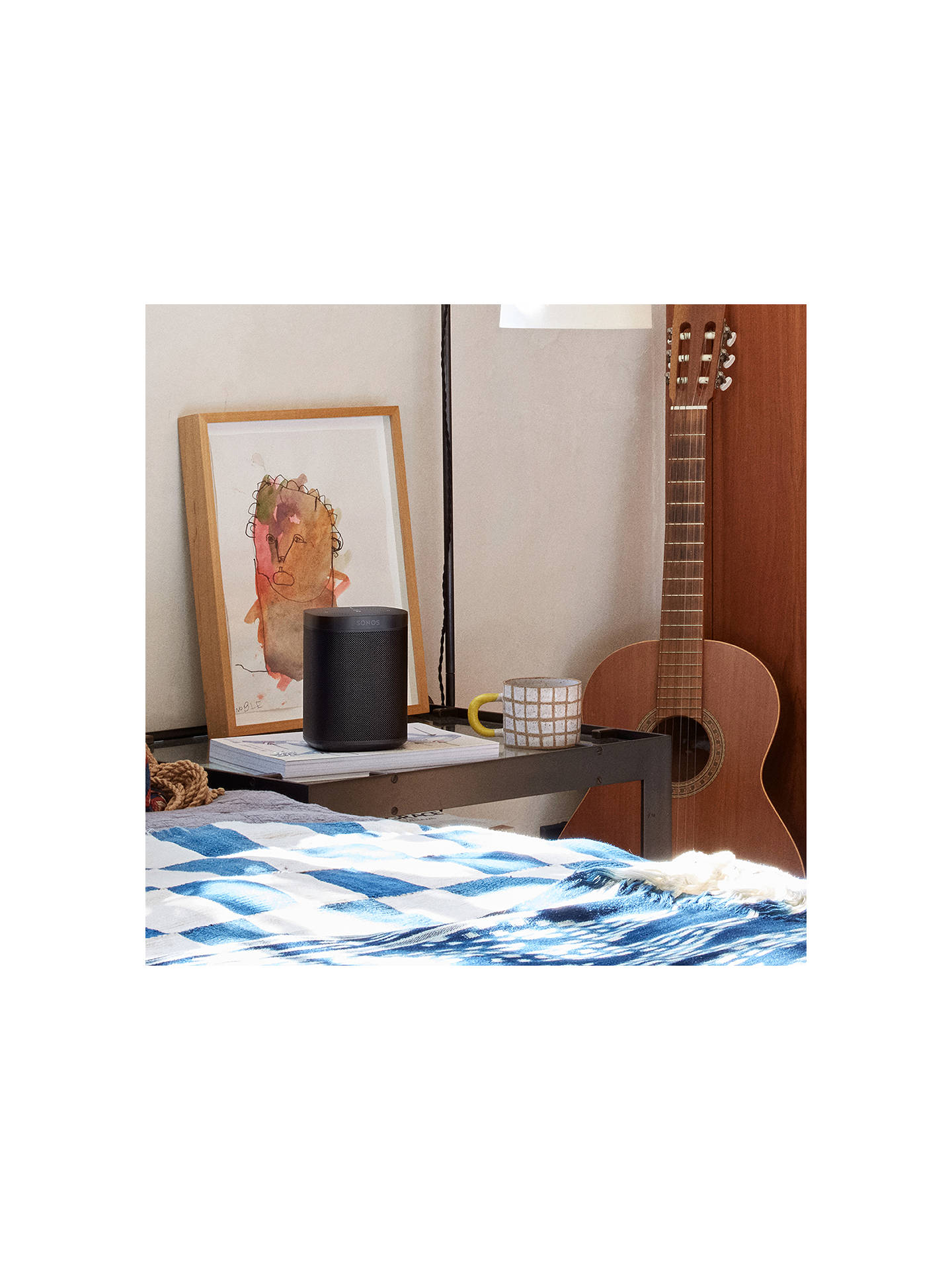 BuySonos One Voice Controlled Smart Speaker, Black Online at johnlewis.com