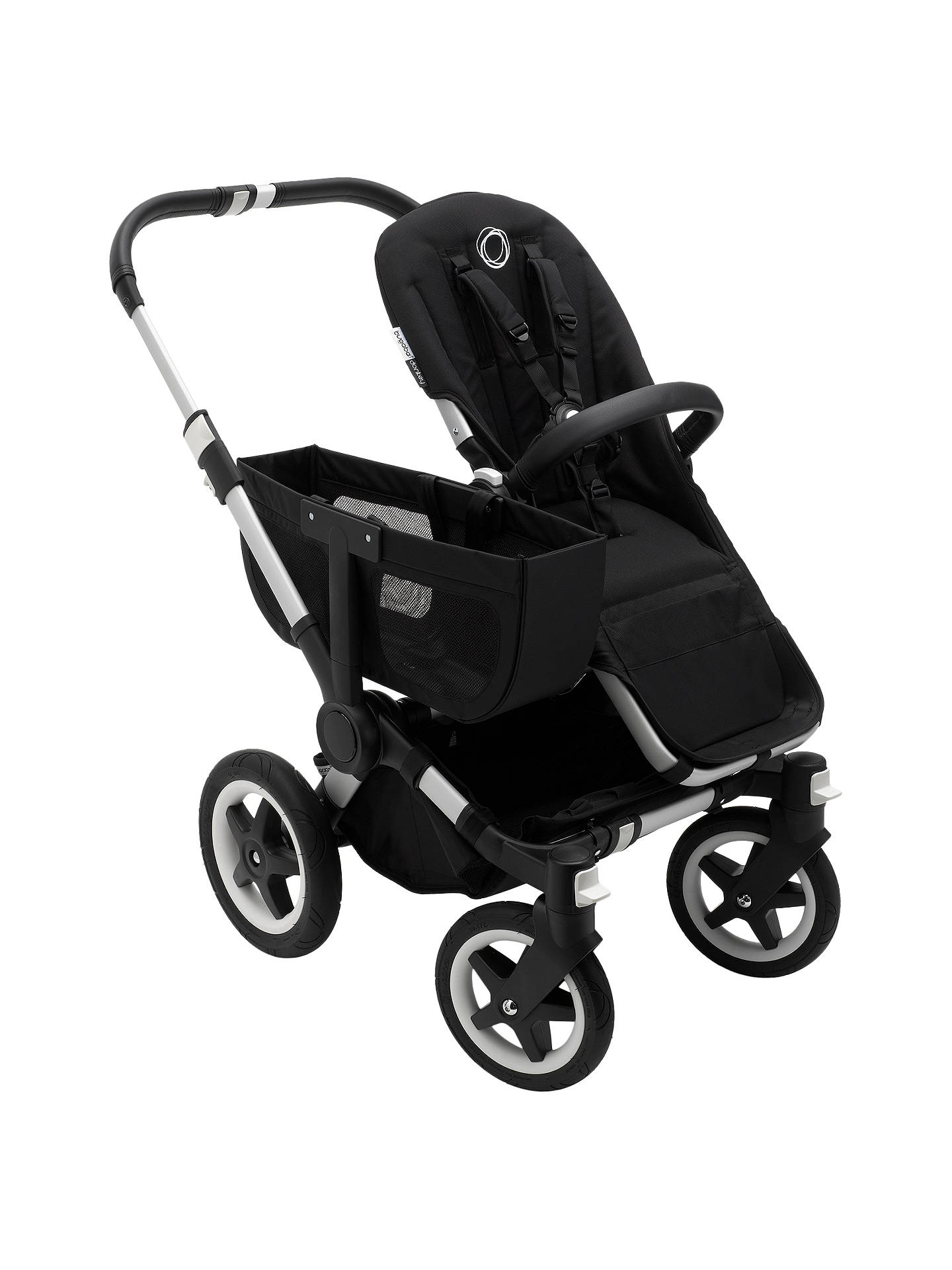 Bugaboo Donkey2 Mono Complete Pushchair Aluminium With Black Fabric Online At Johnlewis