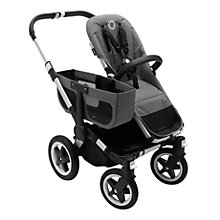 Buy Bugaboo Donkey2 Mono Complete Pushchair & Carrycot, Aluminium with Grey Melange Fabric Online at johnlewis.com