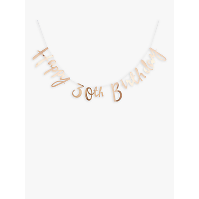 Image of Ginger Ray 30th Birthday Banner Bunting, Gold
