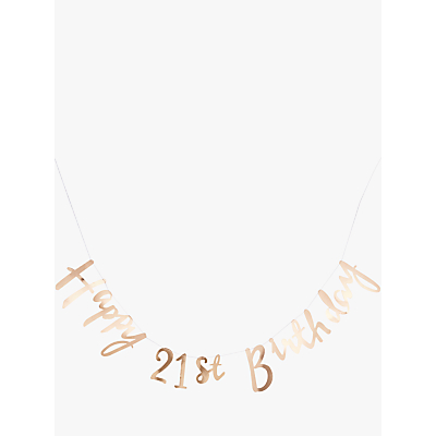 Image of Ginger Ray 21st Birthday Banner Bunting, Gold