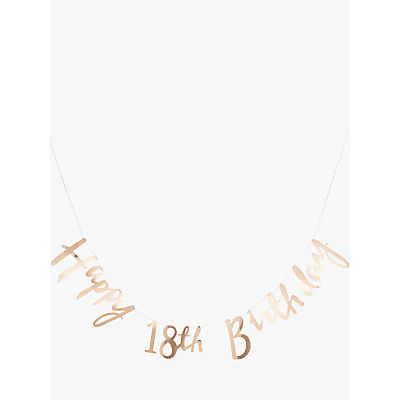 Image of Ginger Ray 18th Birthday Banner Bunting, Gold