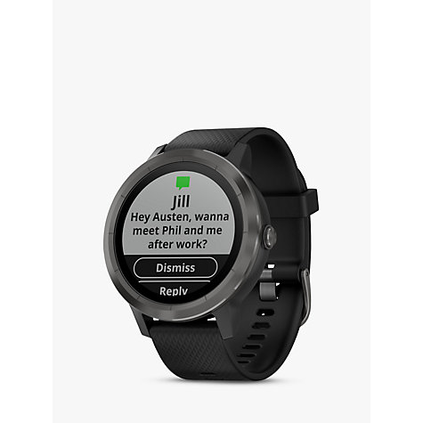 Buy Garmin Vivoactive 3 GPS Smartwatch with Contactless Payment and HR Online at johnlewis.com