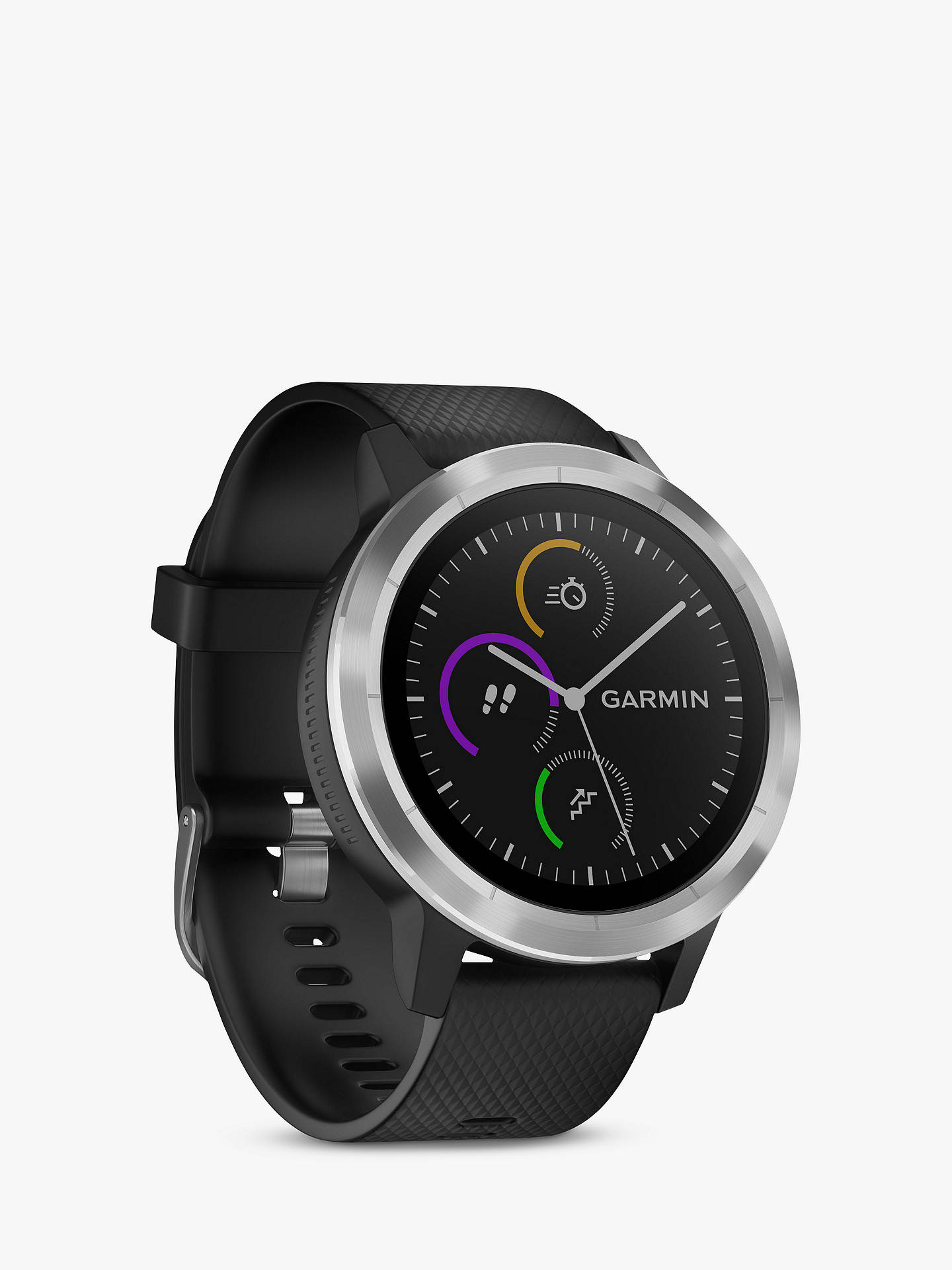 BuyGarmin Vivoactive 3 GPS Smartwatch with Contactless Payment and HR, Black/Stainless Online at johnlewis.com