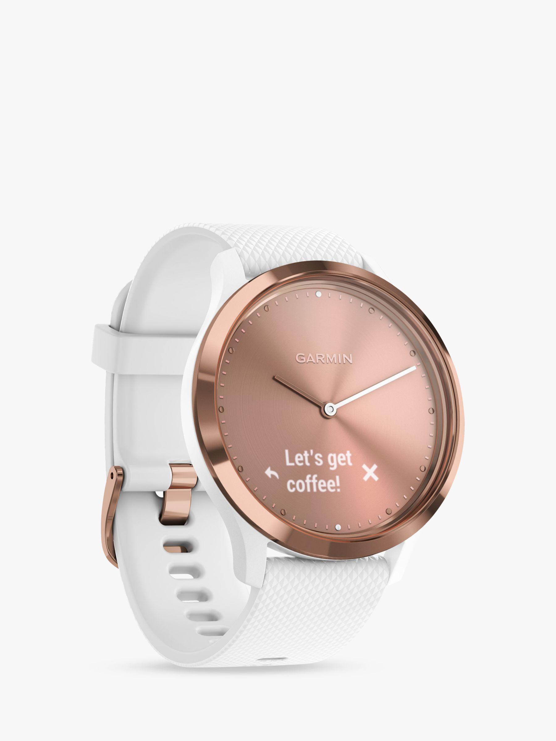 Garmin Garmin vivomove HR Sport Smartwatch, Small/Medium, Rose Gold