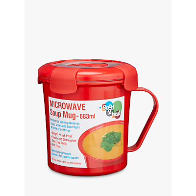good2heat Microwave Leak-Proof Soup Mug, Red, 683ml