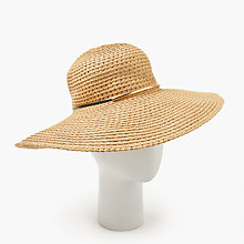 Buy John Lewis Packable Metal Trim Braided Floppy Hat, Natural Online at johnlewis.com
