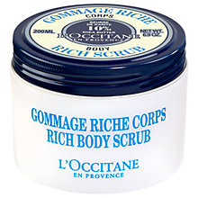 Buy L'Occitane Shea Rich Body Scrub, 200ml Online at johnlewis.com