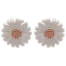 Buy Olivia Burton Daisy Stud Earrings, Silver/Rose Gold Online at johnlewis.com