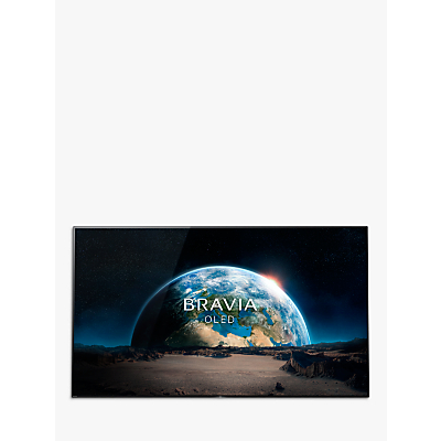 Sony Bravia KD77A1 OLED HDR 4K Ultra HD Smart Android TV, 77 with Freeview HD, Youview, Acoustic Surface & One Slate Design, Black