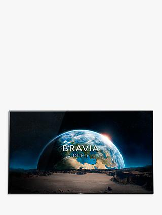 "Sony Bravia KD77A1 OLED HDR 4K Ultra HD Smart Android TV, 77"" with Freeview HD, Youview, Acoustic Surface & One Slate Design, Black"