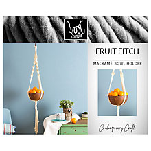 Buy Wool Couture Fruit Fitch Macrame Bowl Holder Craft Kit, Cream Online at johnlewis.com
