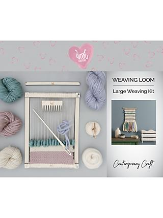 Wool Couture Rectangular Weaving Loom And Yarn Craft Kit