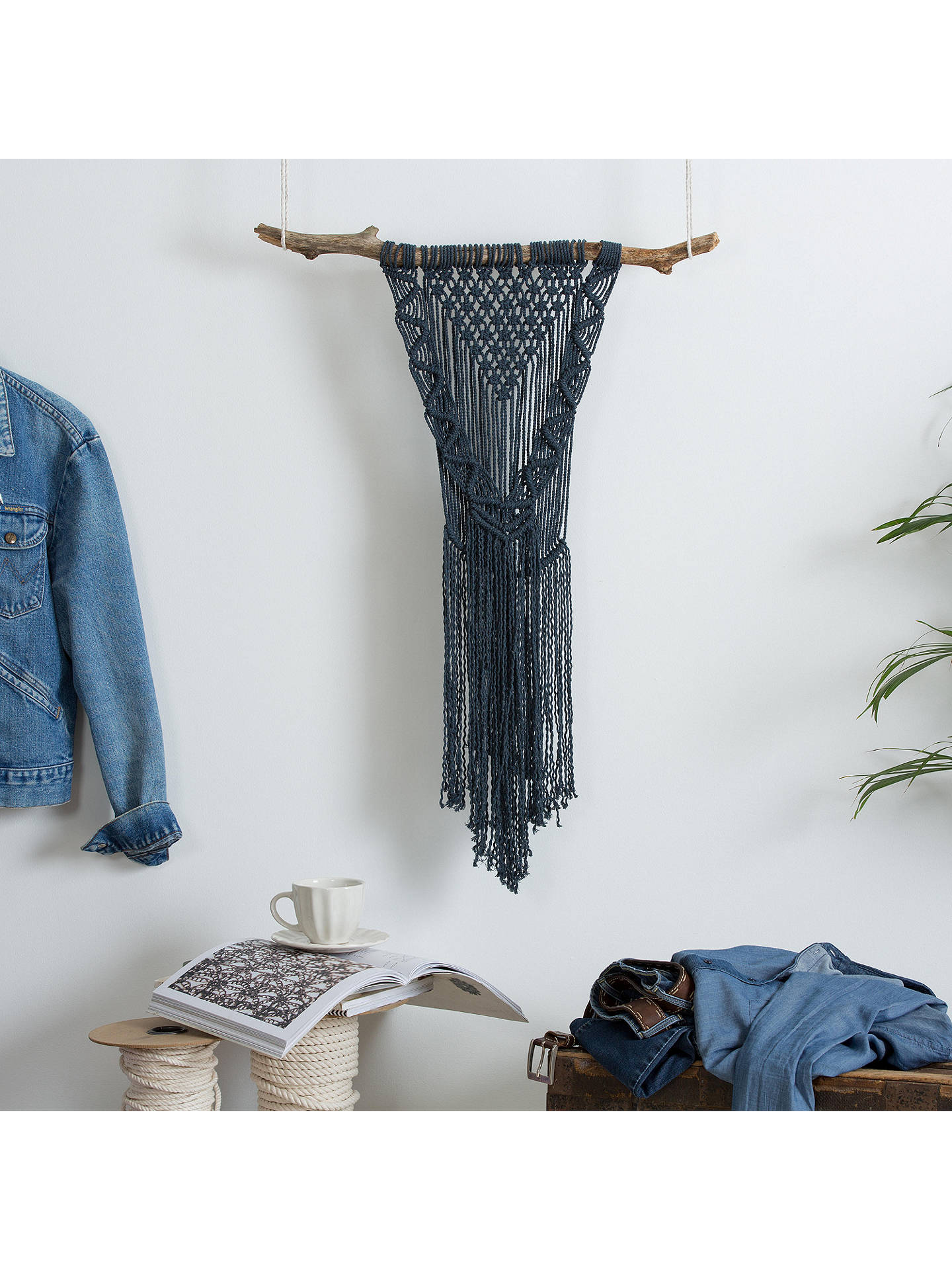 Buy Wool Couture Boho Dreams Macrame Wall Hanging Craft Kit, Denim Online at johnlewis.com