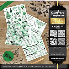 Buy Crafter's Companion Christmas Tree Foil Transfers, Pack of 4 Online at johnlewis.com