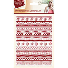 Buy Crafter's Companion Scandinavian Christmas Contemporary Folk Embossing Folder Online at johnlewis.com