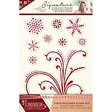Buy Crafter's Companion Flakes And Swirls Stamps, Pack of 9 Online at johnlewis.com