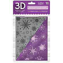Buy Crafter's Companion 3D Snowflake Embossing Folder Online at johnlewis.com