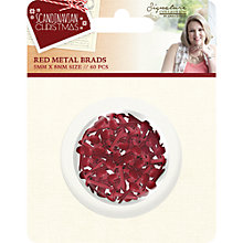Buy Crafter's Companion Metal Brads, Pack of 60, Red Online at johnlewis.com
