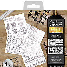 Buy Crafter's Companion Bells Foil Transfers, Pack of 4 Online at johnlewis.com