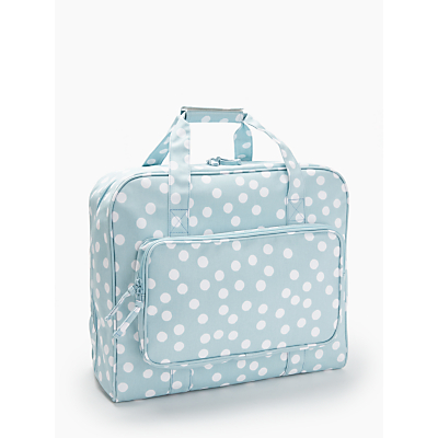 Product photo of John lewis spot print sewing machine bag duck egg