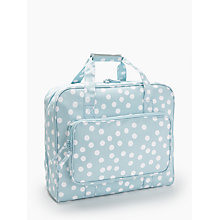Buy John Lewis Spot Print Sewing Machine Bag, Duck Egg Online at johnlewis.com