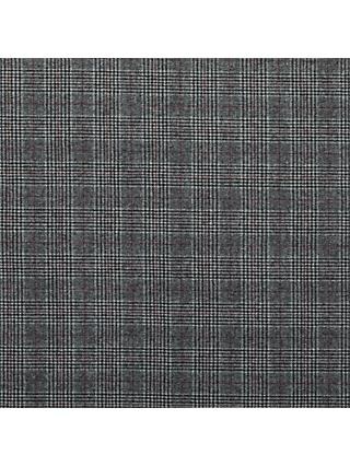 Viscount Textiles Check Weave Fabric, Grey/Plum