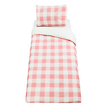 Buy little home at John Lewis Gingham Check Duvet Cover and Pillowcase Set, Single Online at johnlewis.com