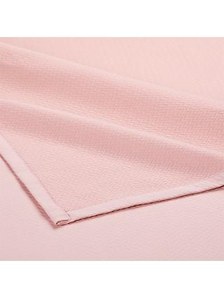 little home at John Lewis Kensey Pure Cotton Throw, Pink