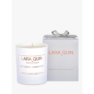 Lara Quin Rose Quartz & Jasmine Orchard Scented Candle