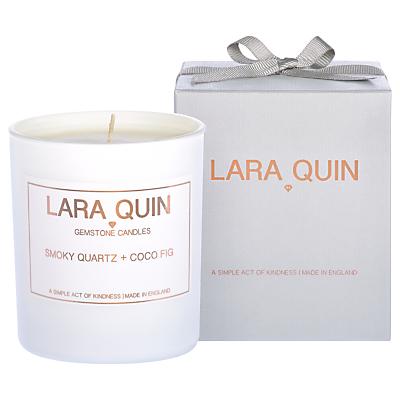 Lara Quin Smokey Quartz & Coco Fig Scented Candle
