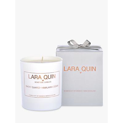 Lara Quin Smokey Quartz & Himalayan Cedar Scented Candle