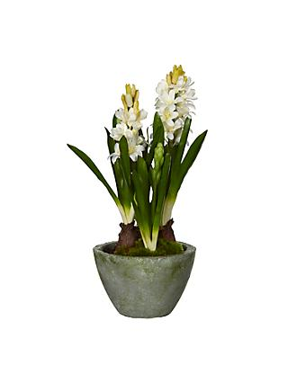 Artificial flowers plants silk flowers table centrepieces john john lewis artificial hyacinth pot cream mightylinksfo