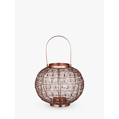 John Lewis Fusion Wire Large Candle Holder, Copper
