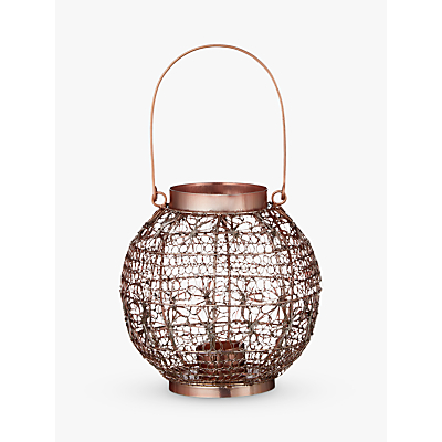John Lewis Fusion Wire Small Candle Holder, Copper