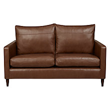 Buy John Lewis Bailey Leather Small 2 Seater Sofa, Dark Leg Online at johnlewis.com
