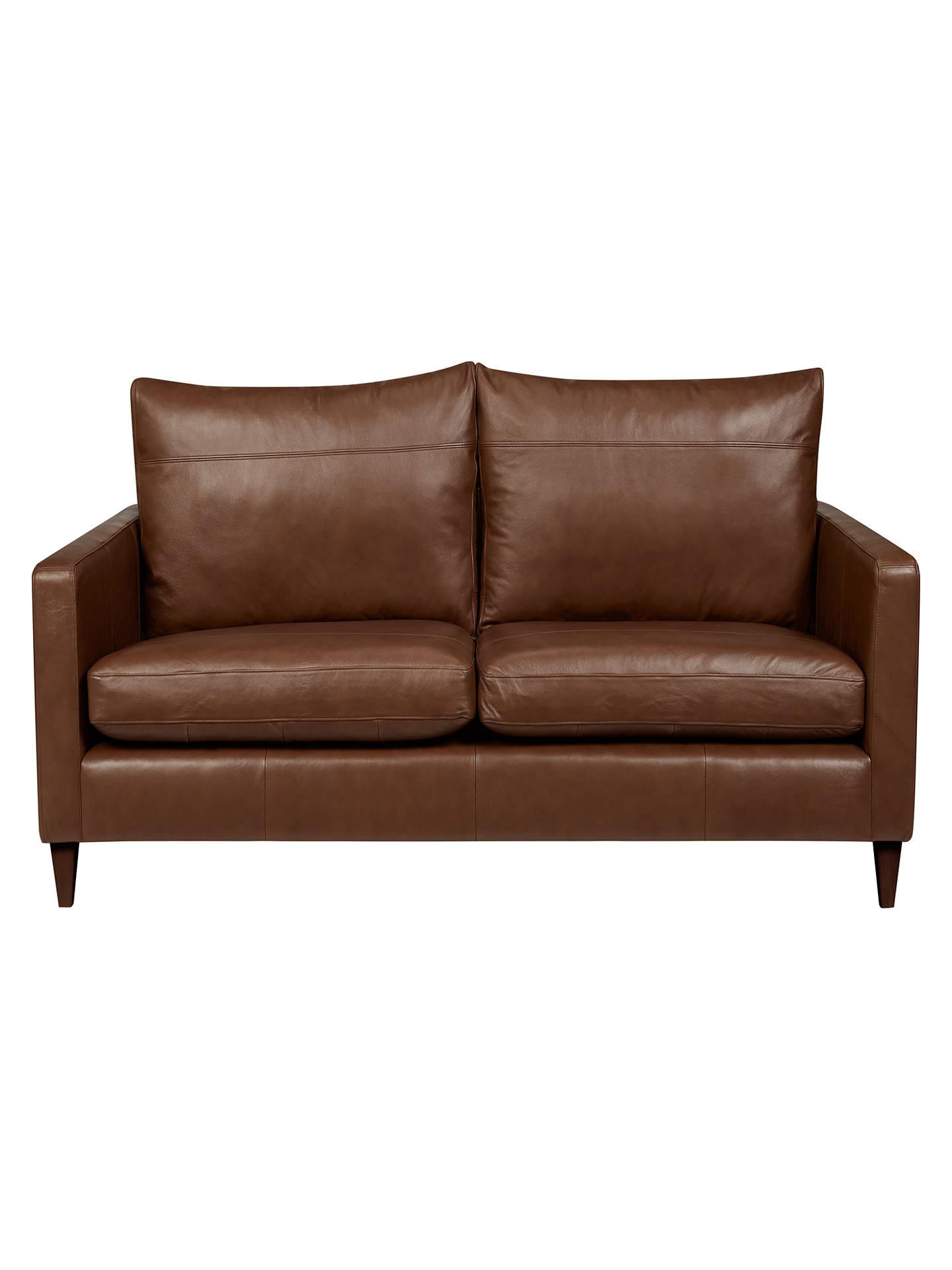 Awesome John Lewis Partners Bailey Leather Small 2 Seater Sofa Dark Leg Milan Chestnut Lamtechconsult Wood Chair Design Ideas Lamtechconsultcom