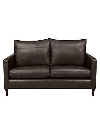 John Lewis & Partners Bailey Leather Small 2 Seater Sofa, Dark Leg