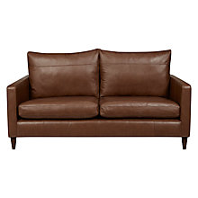 Buy John Lewis Bailey Leather Medium 2 Seater Sofa, Dark Leg Online at johnlewis.com