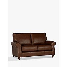Buy John Lewis Hannah Leather Medium 2 Seater Sofa, Dark Leg Online at johnlewis.com