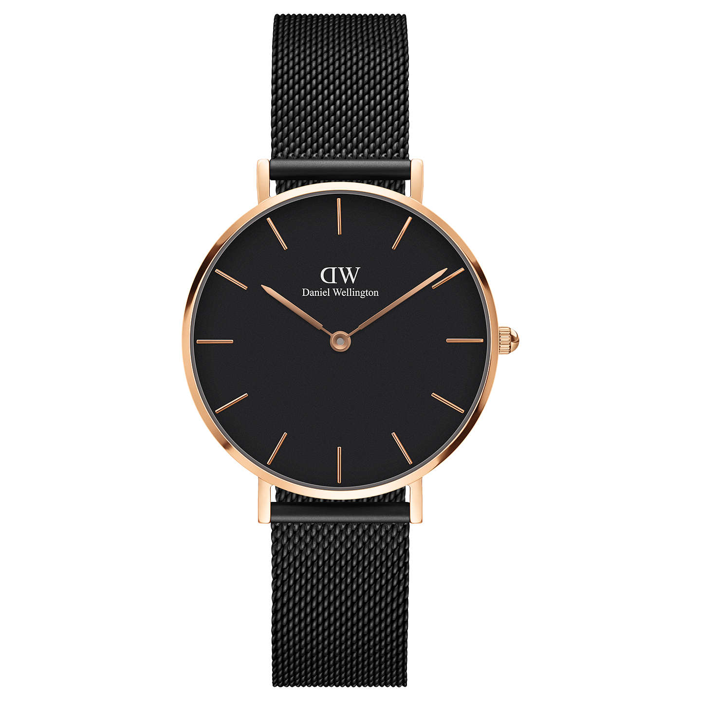 Daniel Wellington Women's Classic Petite Ashfield Mesh Bracelet Strap Watch, Black/Gold by Daniel Wellington