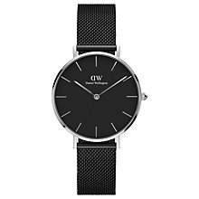 Buy Daniel Wellington Women's Classic Petite Ashfield Mesh Bracelet Strap Watch Online at johnlewis.com